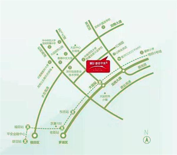 颐安都会中央五期交通图