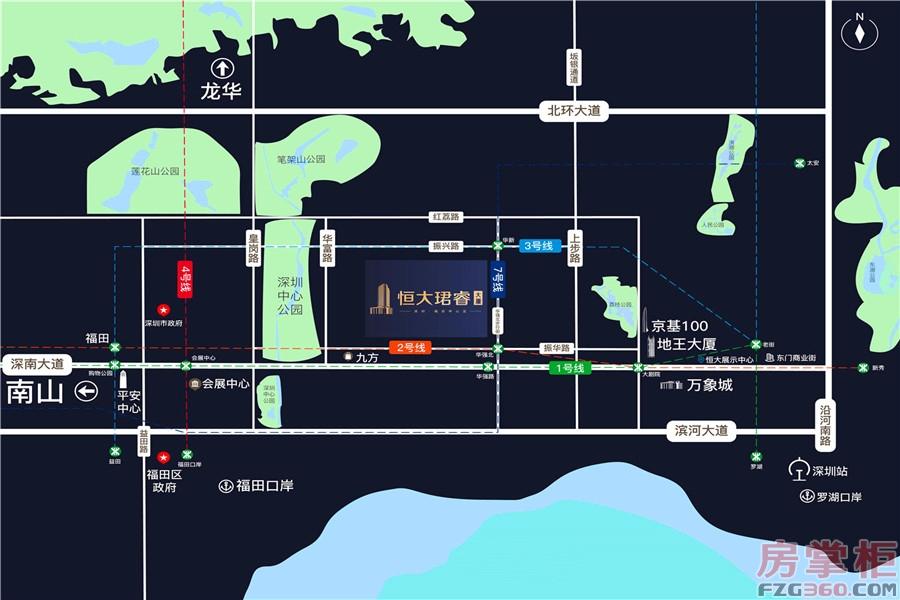 恒大珺睿大厦交通图