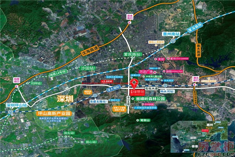 卓洲绿景苑区域图