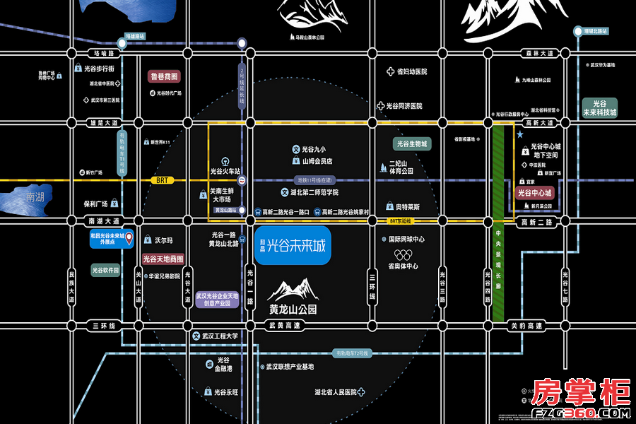 和昌光谷未来城区位图