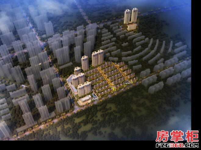 和昌光谷未来城鸟瞰图