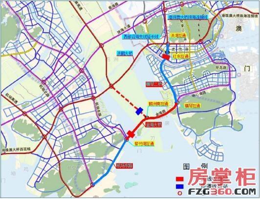 珠海连接线横琴北互通至洪湾互通段工程正式通车