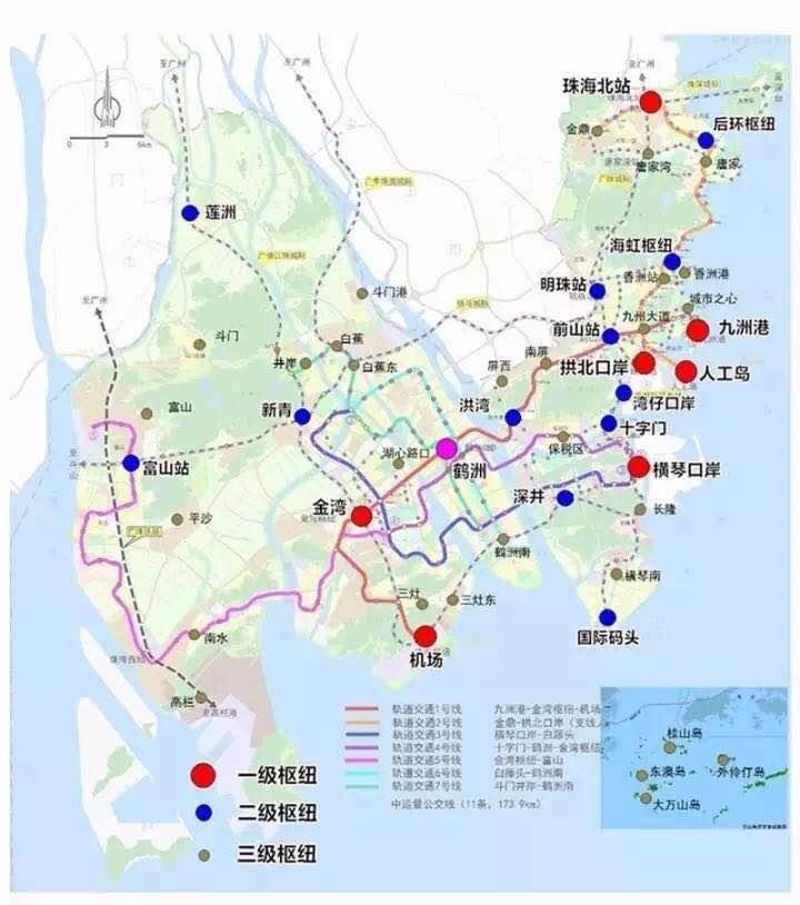 从区域来看,此次地铁规划线路已实现了珠海地区的全覆盖,东起九州港